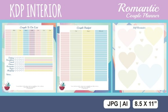 Print on Demand: KDP Interior Couple Budget Planner Graphic KDP Interiors By edywiyonopp