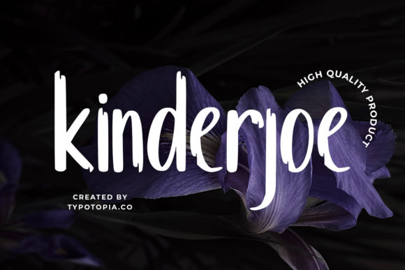 Print on Demand: Kinderjoe Display Font By typotopia