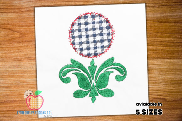 Leaf Paisley Design with Circle Applique Borders Embroidery Design By embroiderydesigns101