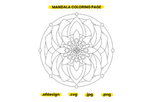 Print on Demand: Mandala Coloring Page Design 33 Graphic Coloring Pages & Books Adults By doridodesign