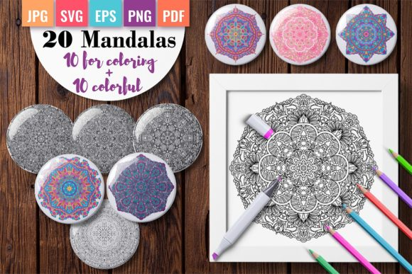 Mandala Coloring Pages for Adults Vol. 2 Graphic Coloring Pages & Books By DoodleBox