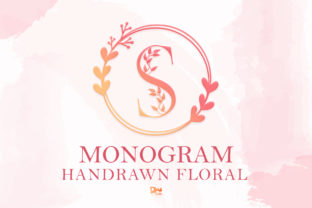 Print on Demand: Monogram Handrawn Floral Decorative Font By dmletter31