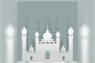 Mosque Illustration in Paper Style Graphic Illustrations By faqeeh