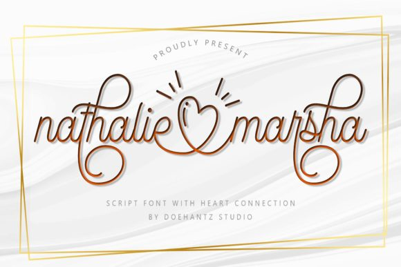 Print on Demand: Nathalie Marsha Script & Handwritten Font By Doehantz Studio