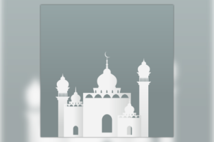 Paper Style Mosque Illustration Graphic Illustrations By faqeeh