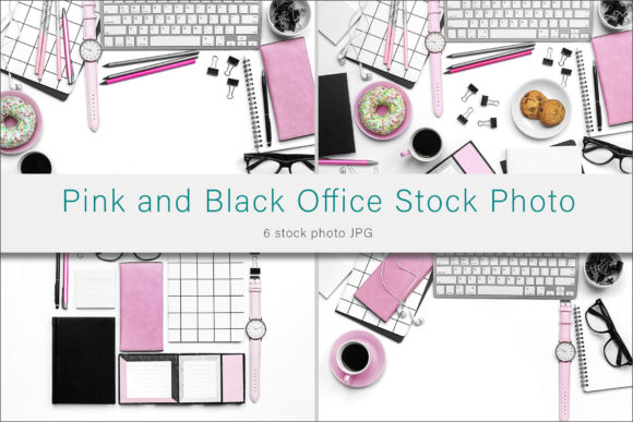 Print on Demand: Pink and Black Styled Stock Photography Graphic Photos By AS Digitale