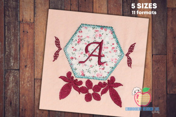 Polygamy Floral Frame Applique Borders Embroidery Design By embroiderydesigns101