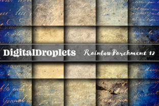 Rainbow Parchment 13 Graphic Backgrounds By digitaldroplets