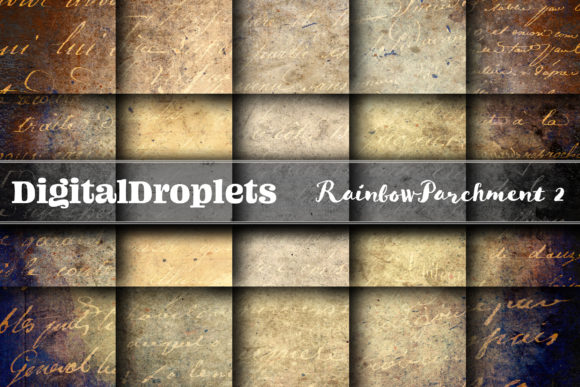 Rainbow Parchment 2 Graphic Backgrounds By digitaldroplets