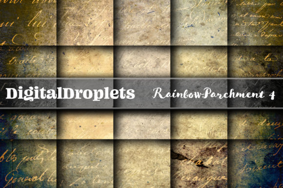 Rainbow Parchment 4 Graphic Backgrounds By digitaldroplets