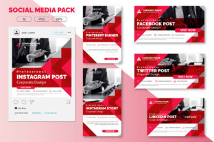 Print on Demand: Social Media Pack Graphic UX and UI Kits By curvedesign