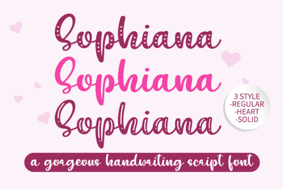 Print on Demand: Sophiana Display Font By BitongType