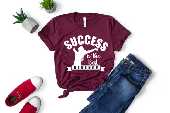 Print on Demand: Success Girly Quote SVG+PNG+JPG+EPS Graphic Print Templates By Ifter Nishat
