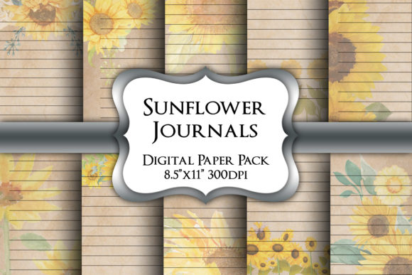 Print on Demand: Sunflower Lined Writing Paper Pack Graphic Crafts By Party Pixelz