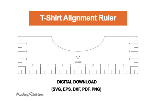 Print on Demand: Tshirt Ruler SVG, T-shirt Alignment Tool Graphic Crafts By Mockup Station