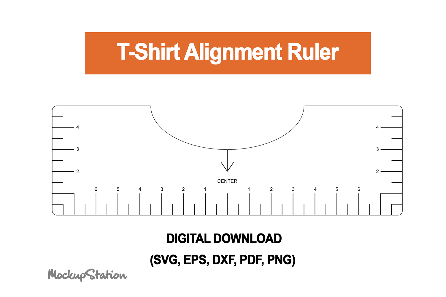Tshirt Ruler Svg T Shirt Alignment Tool Graphic By Mockup Station Creative Fabrica