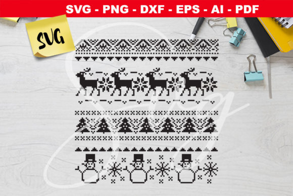 Ugly Christmas Sweater Graphic Crafts By Novart