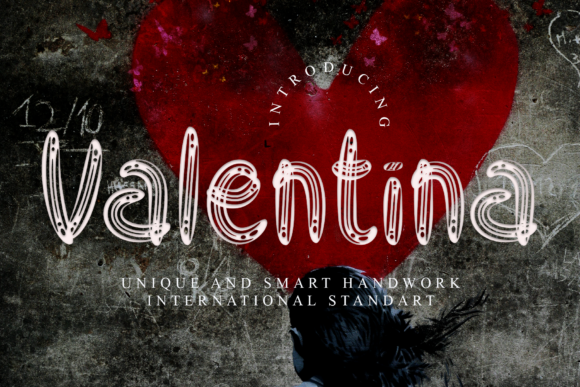 Print on Demand: Valentina Display Font By dazzlinggleam