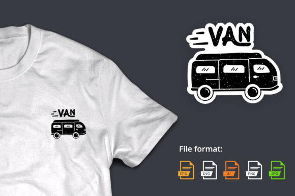 Van Doodle Solid Graphic Illustrations By hello.teeszone