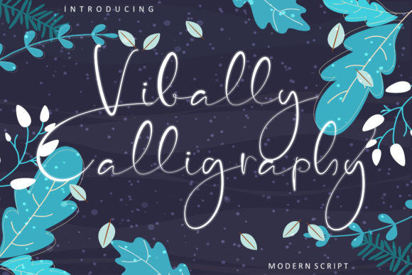 Print on Demand: Vibally Calligraphy Script & Handwritten Font By insanurbahagia