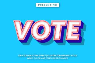 Print on Demand: Vote Illustrator Text Effect Graphic Add-ons By Farizky Studio