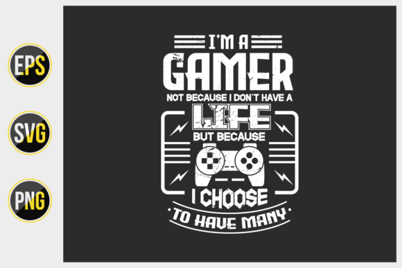 Print on Demand: Gaming T Shirt Design Vector. Graphic Print Templates By ajgortee