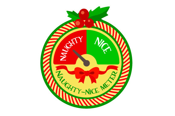 Naughty Nice Meter Christmas Craft Cut File By Creative Fabrica Crafts