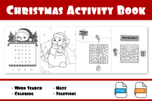 Print on Demand: Activity Book for Christmas Theme Graphic KDP Interiors By IsaraDesign