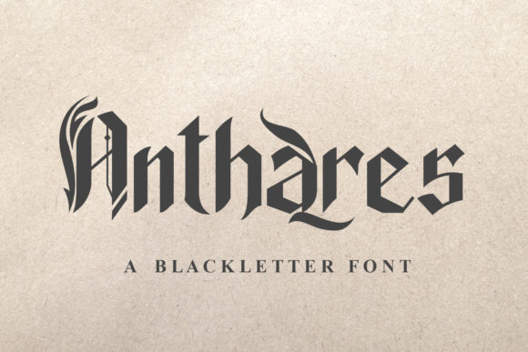 Print on Demand: Anthares Blackletter Font By TheWinner