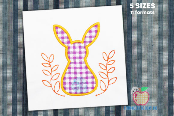 Back of the Bunny with a Little Tail Easter Embroidery Design By embroiderydesigns101