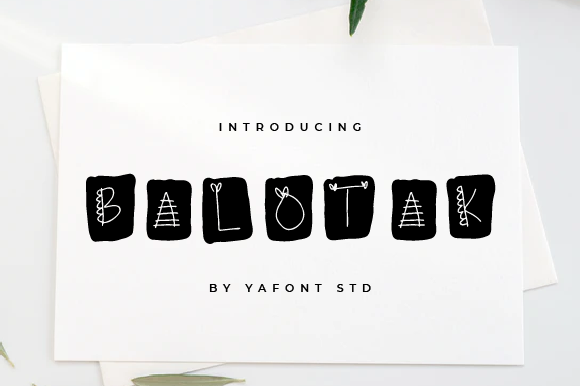 Print on Demand: Balotak Display Font By Typekamu
