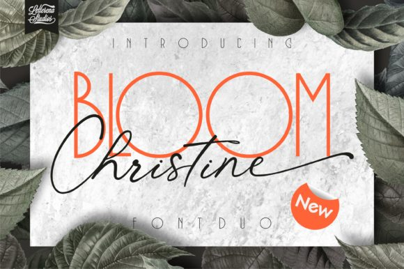 Print on Demand: Bloom Christine Script & Handwritten Font By letterenastudios