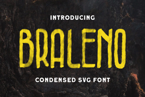Print on Demand: Braleno Display Font By letterhend
