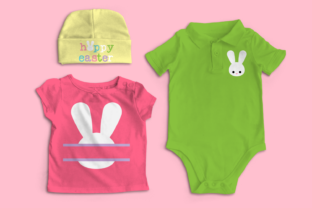 Bunny Face Hoppy Easter Trio SVG Graphic Crafts By DesignedByGeeks