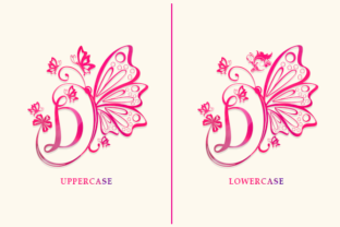 Print on Demand: Butterfly Monogram Decorative Font By utopiabrand19 2