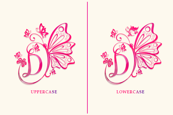 Butterfly Monogram Font Download