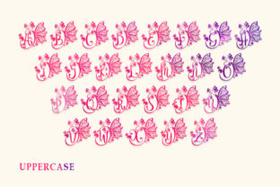Print on Demand: Butterfly Monogram Decorative Font By utopiabrand19 3