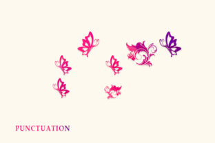 Print on Demand: Butterfly Monogram Decorative Font By utopiabrand19 5