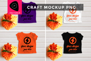 Child's Tee with Fall Pumpkin PNG Mockup Graphic Product Mockups By RisaRocksIt