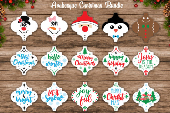 Christmas Arabesque Ornament Bundle Svg Graphic