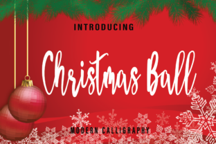 Print on Demand: Christmas Ball Script & Handwritten Font By Farz Studio