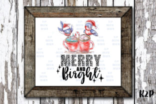 Print on Demand: Christmas Cardinal Merry and Bright Graphic Crafts By KtwoP