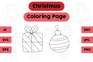 Christmas Coloring Page Decoration Set Graphic Coloring Pages & Books Kids By isalsemarang