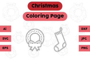 Christmas Coloring Page Decorations Set Graphic Coloring Pages & Books Kids By isalsemarang