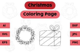 Christmas Coloring Page Gift Set Graphic Coloring Pages & Books Kids By isalsemarang