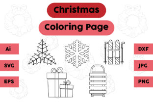 Christmas Coloring Page Plum Gift Set Graphic Coloring Pages & Books Kids By isalsemarang
