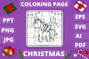 Print on Demand: Christmas Coloring Page for Kids #10 V4 Graphic Coloring Pages & Books Kids By MikeToon Studio