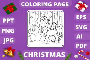 Print on Demand: Christmas Coloring Page for Kids #28 V4 Graphic Coloring Pages & Books Kids By MikeToon Studio