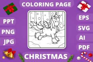 Print on Demand: Christmas Coloring Page for Kids #30 V4 Graphic Coloring Pages & Books Kids By MikeToon Studio