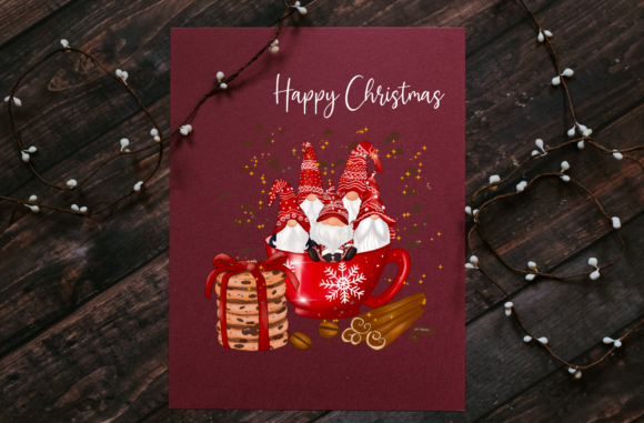 Christmas Red Mug Gnomes Sublimation Graphic Preview